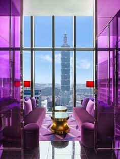 The heady heights of the W Taipei hotel.