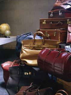 More Hermes vintage travel bags!