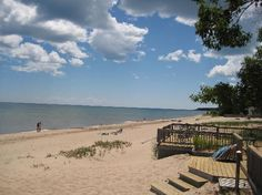 Oscoda, MI: Lake Huron. Love it here! Great beach and town. Lots of cute beach cottages or can camp on the Au Sable River that offers great fishing, canoeing, kayaking, and tubing.