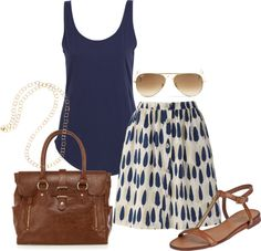 """""""Patterned Skirt"""" by august29 on Polyvore"""