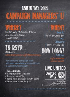 United Way Campaign Manager's U