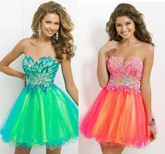 Vestidos para fiesta neon