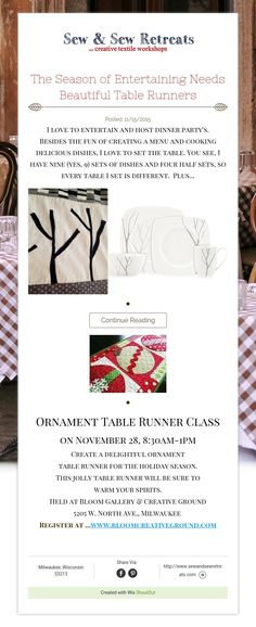 The Season of Entertaining Needs Beautiful Table Runners