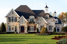 Chateau House Plan with 5196 Square Feet and 5 Bedrooms from Dream Home Source | House Plan Code DHSW43151