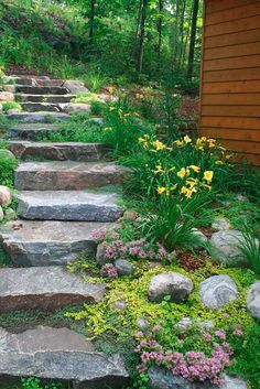 Garden Steps On A Slope Ideas Garden Stepping Stones Garden Steps On A Slope Ideas. One of the most versatile, easy to use and imaginative accessories for your garden is the stepping stone. Hillside Garden, Lawn And Garden, Garden Paths, Landscape Stairs, Landscape Design, Garden Design, Landscape On A Slope, Landscape Bricks, Landscape Photos