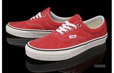 "Vans Era ""Red/White"" kicks"