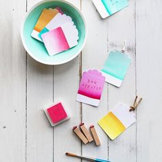 DIY Tags- Fun with Watercolours (via Eat Drink Chic)