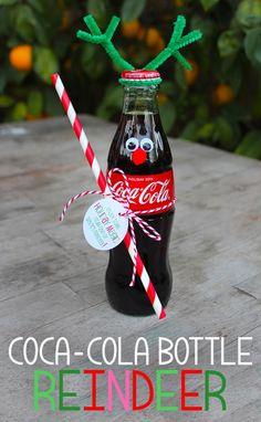 Coke Bottle Reindeer tutorial w free printable