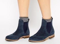Blue suede Chelsea boots? Yes, please!