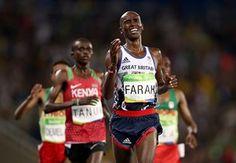 Mo Farah takes the Gold in the Rio 10,000m in 27m 05.18sec ( 2012 London -27m 30.43sec )