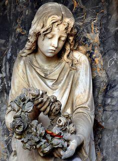 Statue in cemetery in Baden Würthenberg, Germany