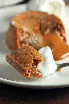 Molten Dulce de Leche Cakes - Brown Sugar