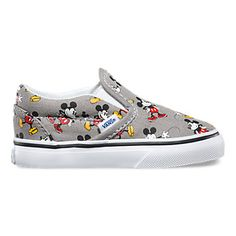 Vans Disney Mickey Mouse Classic Toddlers Slip-On Shoes Multi In Sizes Cute Baby Shoes, Baby Boy Shoes, Baby Boy Outfits, Girls Shoes, Kids Outfits, Vans Toddler, Vans Kids, Disney Babys, Baby Disney