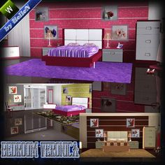 Veronica bedroom at HelleN Sims 3 - Sims 3 Finds