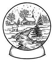 Printable christmas snow globe coloring pages for kids christmas