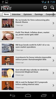 NDTV Profit app brings you live coverage from the financial markets and corporate India. Powered by India's leading business channel, NDTV Profit, the app is your best source of information on business, economy and the markets.<br>Use the application to watch Live TV and stay updated with the latest news and analysis of financial markets, economy and business. <p>Manage your investment portfolio, track the markets and get live stock quotes during market hours. Research your potential…