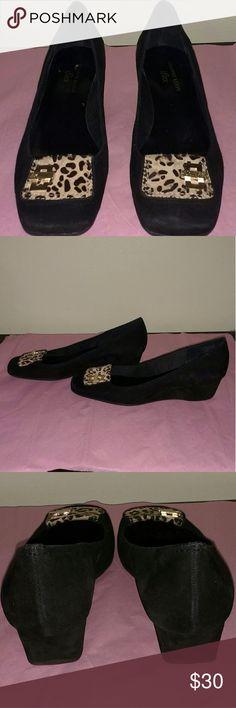Anne Klein Shoes Velvet iflex wedge shoes Anne Klein Shoes Wedges