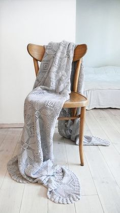 Vintage crocheted blanket  Stars by lacasadecoto on Etsy, €65.00
