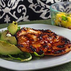 Barbecue Chicken With Fresh Mango Salsa