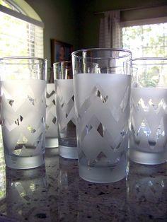 {DIY} MISSONI-STYLE DRINKING GLASSES