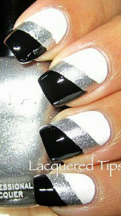 Black White silver