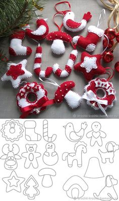 Learn how to make beautiful Christmas decorations made of fabric or felt - Oscar Wallin Christmas Sewing, Christmas Wreaths, Christmas Crafts, Homemade Christmas, Advent Wreaths, Modern Christmas, Scandinavian Christmas, Beautiful Christmas, White Christmas