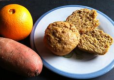 Another delicious and super healthy recipe from Linda Watson at Cooks for Good and Wildly Affordable Organic - Orange Sweet Potato Muffins