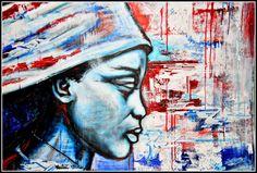 mixed media on canvas, 100x70