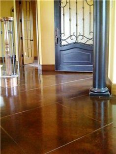 More stained concrete floors...