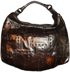 Women's #Kenneth Cole New York #Purse #Handbag Easy Piecey #Leather Hobo Bronze