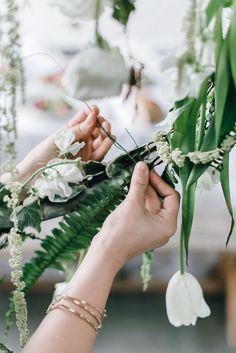 DIY Hanging Floral Installations from Anne Sage's Spring Brunch – Design*Sponge