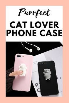 This cat phone case is purrfect for all cat lovers! Dog Jewelry, Animal Jewelry, Personalized Phone Cases, Cat Products, Dog Necklace, Cat Ring, Cat Design, Cat Lovers, Play