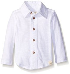 Burts Bees Baby Baby Organic Slub Button Down Shirt Cloud 12 Months ** Continue to the product at the image link. (This is an affiliate link) #BabyBoyTops