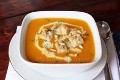 My Kitchen Snippets: Roasted Pumpkin Soup