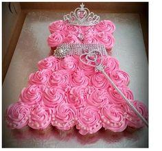 Princess dress made out of cupcakes
