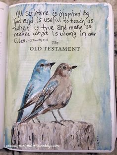 watercolor painting in Bible by Shawna Wright Art Bible Verses Quotes, Bible Scriptures, Advent Scripture, Wisdom Quotes, My Bible, Bible Art, Bible Drawing, Bible Promises, Painting Quotes