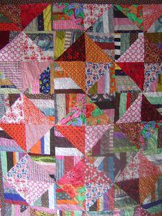 Queen size quilt. Modern. Bright Color. Cotton.
