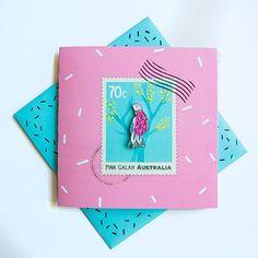 Pin Card Sprinkly Galah