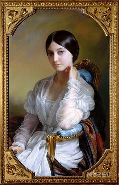 Portrait of Madame Léon Riesener née Laure Peytouraud Victorian Women, Victorian Art, Female Portrait, Female Art, Victorian Paintings, Classical Art, Madame, Beautiful Paintings, Fashion History
