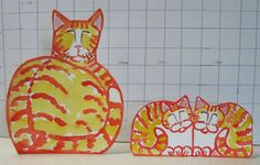 . Yellow-orange momma kitty and 2 matching kittens.  $11.99 incl postage to anywhere in the lower 48. Paypal.