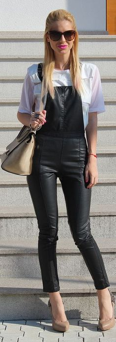 #Faux #Leather #Jumpsuit - Fashion Week Day 2  by Zorannah.