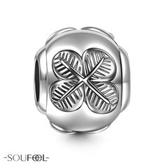 Soufeel Four-Leaf Clover Charm. If you are lucky to have a clover, please preserve it carefully, and it brings you happiness.