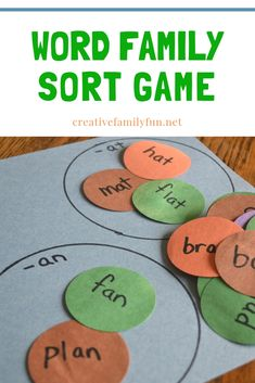 Word Family Sort Game