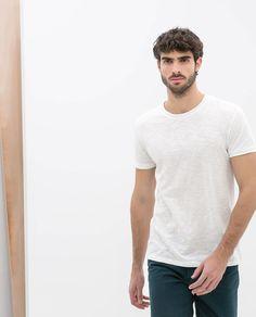Image 1 of SLUB KNIT T-SHIRT from Zara