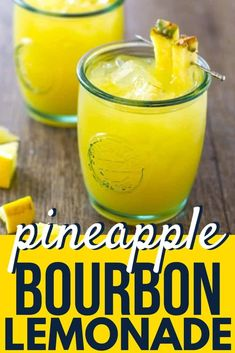 Pineapple Bourbon Lemonade is a tart and refreshing 3 ingredient cocktail to start your weekend or take you on a tropical vacation during the week! Pineapple Cocktail, Pineapple Lemonade, Lemonade Cocktail, Cocktail Drinks, Pineapple Drinks, Cocktail Ideas, Alcoholic Drinks With Lemonade, Whiskey Lemonade, Pineapple Margarita