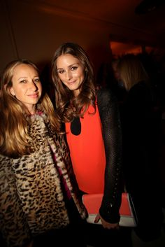 Jennifer Meyer Maguire with Olivia Palermo in Diane von Furstenberg.
