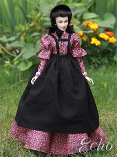 "My new doll outfit ""Scarlett's desperation"" on Franklin Mint doll."
