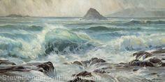 Water Music -- Original Oil Painting by Steve Henderson Oil ~ 30 x 60