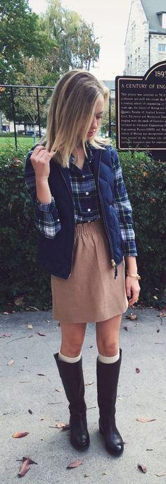 Cute preppy fall style