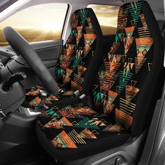 Teal Accent Chairs In Living Room Truck Seat Covers, Car Seat Cover Sets, Aztec Art, Aztec Designs, Aztec Patterns, Girly, Fit Car, Cute Cars, Truck Accessories